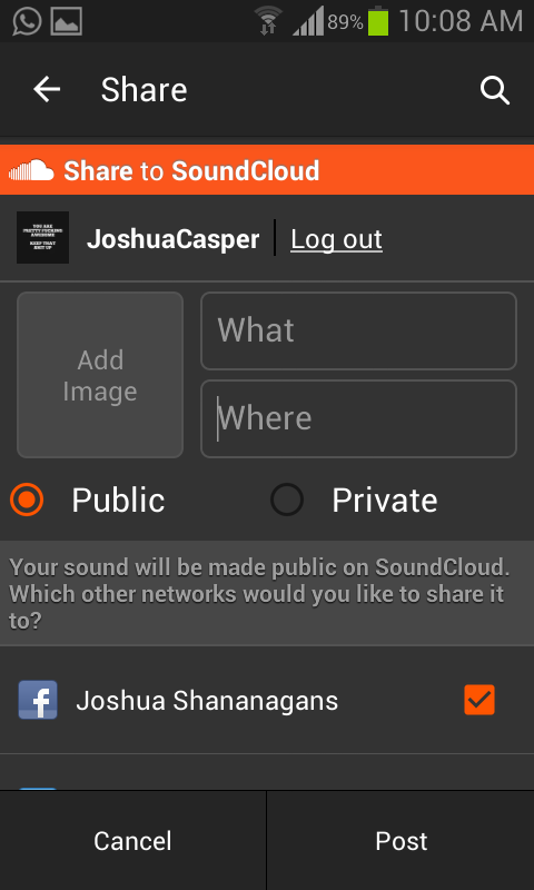 How to upload music on soundcloud mobile