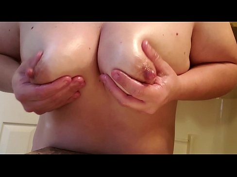 Naked girls pulling on their nipples