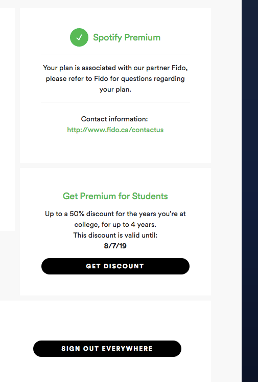 How much is spotify for college students