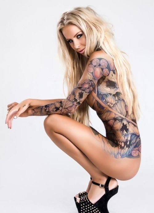 Naked sexy girls with ink