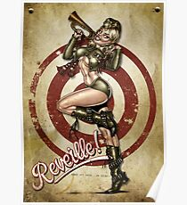 Pin up girl nude army